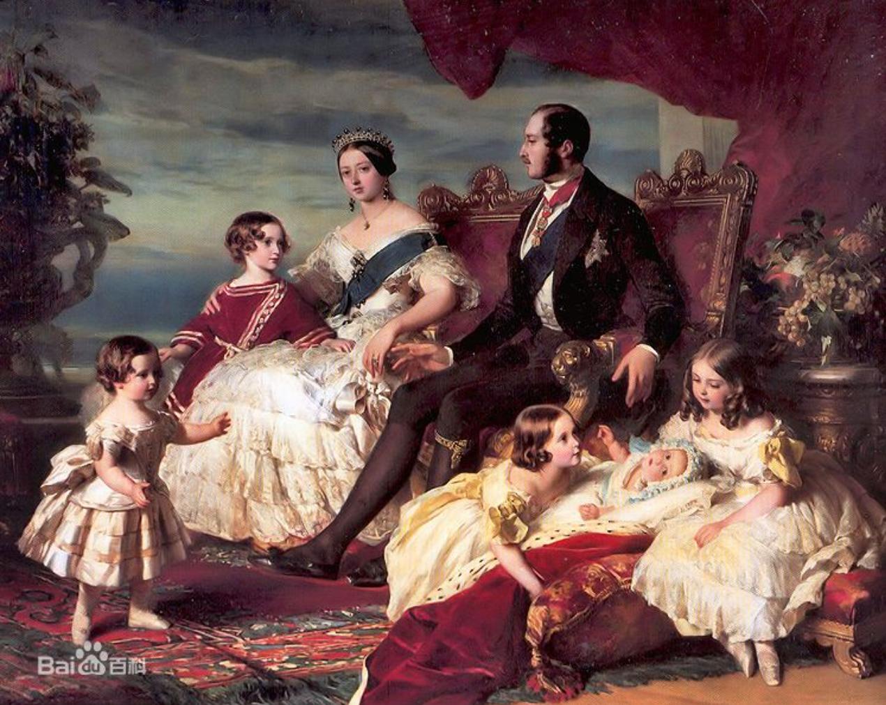 維多利亞女王與阿爾伯特王子同孩子們