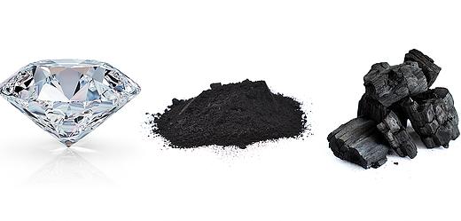 diamond-graphite-carbon