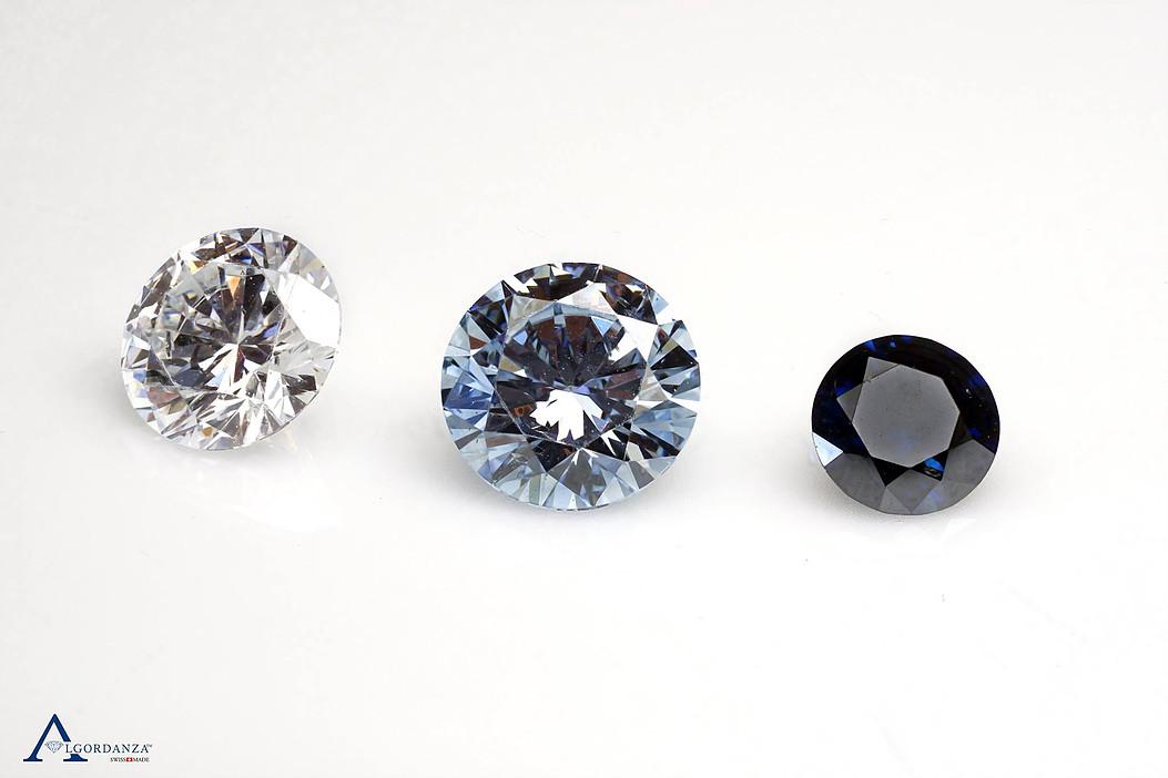 three tones of diamond