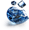 Assortment of blue memorial diamonds
